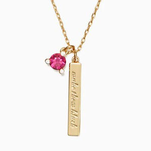 """NWT - Kate Spade """"Born to Be"""" necklace - pink"""